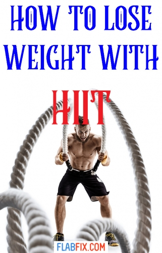 If you're overweight, this article will show you how to lose weight with high intensity interval training #hiit #lose #weight #flabfix