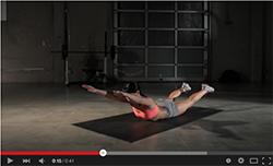 Superman bodyweight back exercise