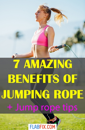 In this article, you will discover the amazing benefits of jumping rope and learn new jump rope skills #jumping #rope #benefits #flabfix