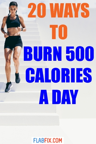 In this article, you will discover 20 ways to burn 500 calories a day #burn #calories #500calories #flabfix