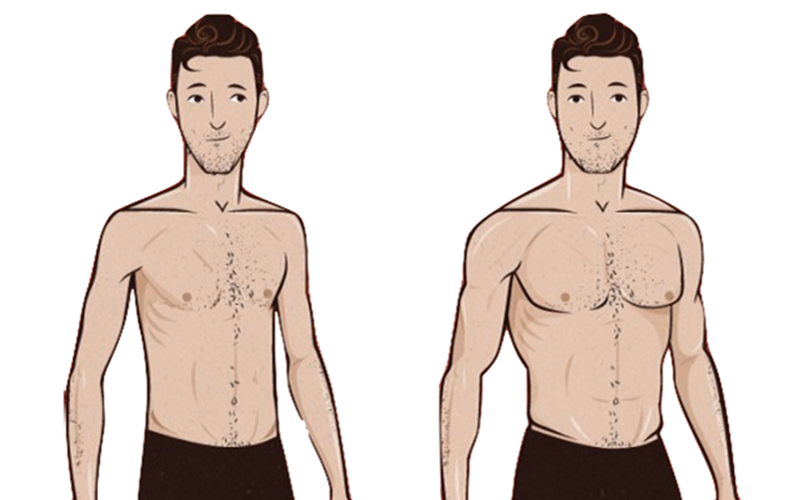 go from skinny to muscular