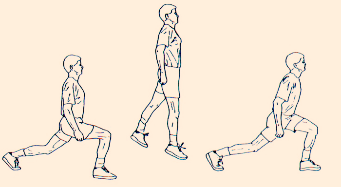 full body exercises without weights jumping-lunges