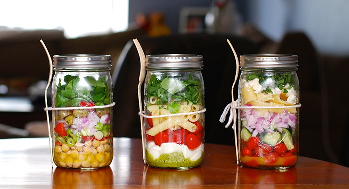 meal idas for weight loss - jar salad