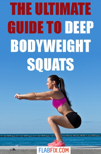 In this article, you will learn everything you need to know to do deep bodyweight squats properly #deep #bodyweight #squats #flabfix