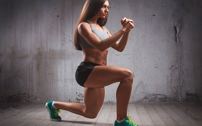 Lunges without weights for legs