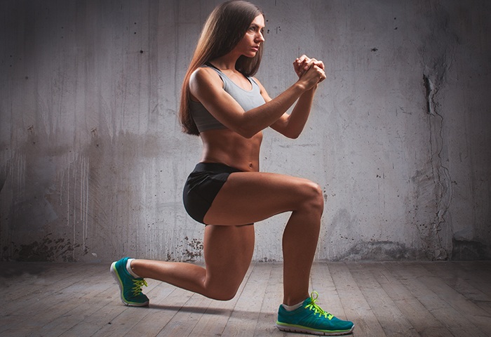 lunges without weights
