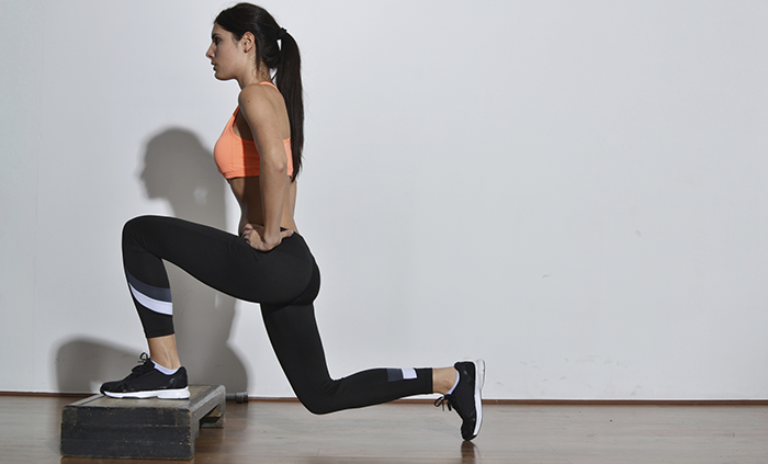 step up lunges
