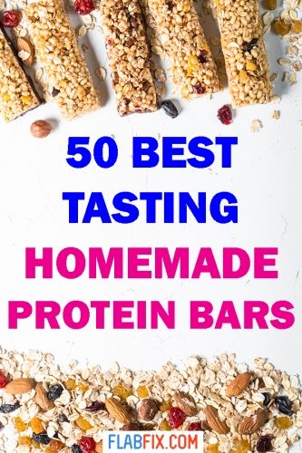Read this article to discover the best tasting homemade protein bars #homemade #protein #bars #flabfix