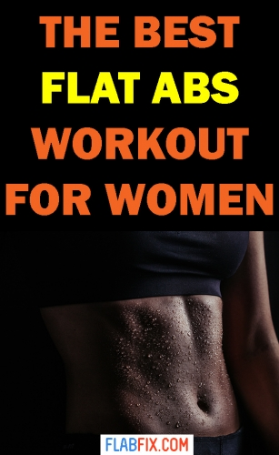 This article will show you the best flat abs workout for women you can do at home #flat #abs #workout #flabfix