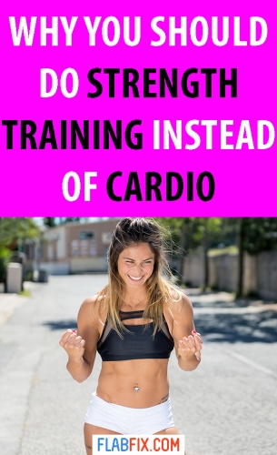 Read this article to discover why you should do strength training instead of cardio #strength #training #cardio #flabfix