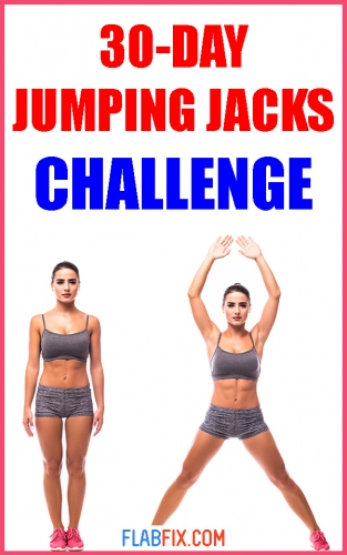 Take on this 30-day jumping jacks challenge if you want to lose fat and tone up fast #jumping #jacks #challenge #flabfix