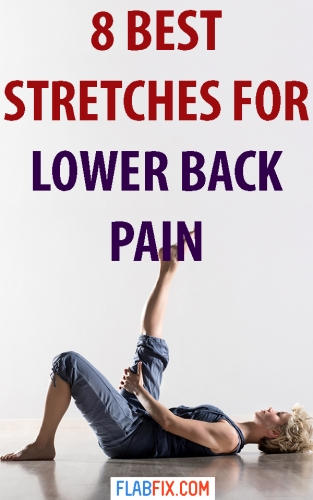 8 Stretch Exercises For Lower Back Pain Relief Flab Fix