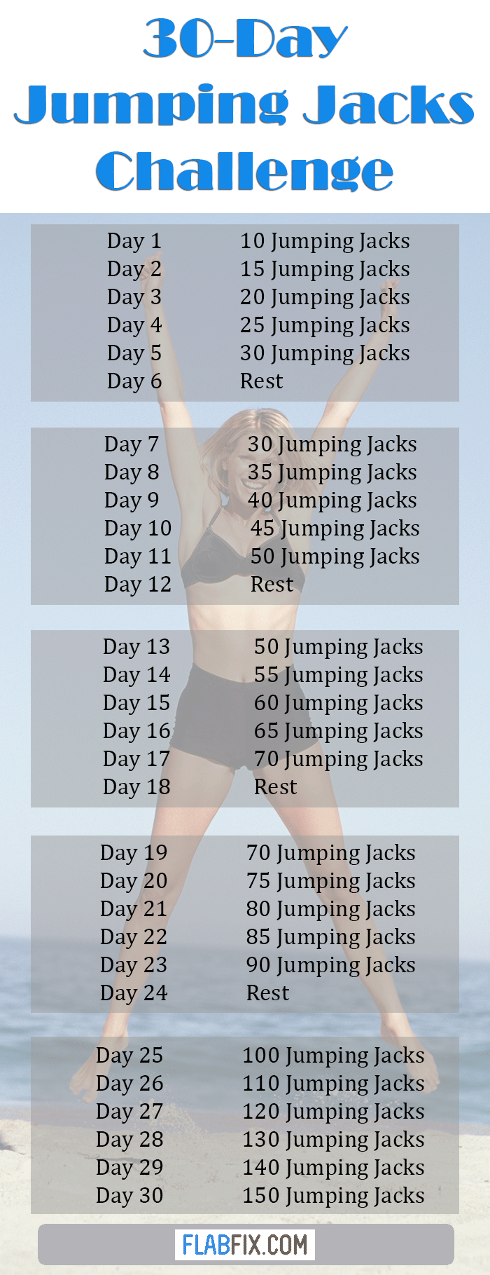 Take on the 30-day jumping jacks challenge if you want to lose weight fast #jumping #jacks #challenge #flabfix