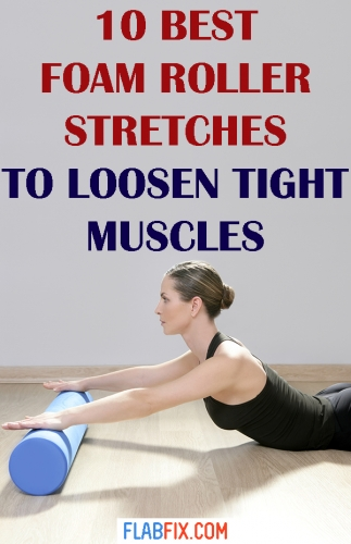 If you have tight muscles, use these foam roller stretches to loosen them #foam #roller #stretches #flabfix