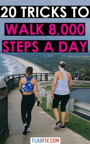 In this article, you will discover simple tricks that can help you walk 8,000 steps a day #walking #workout #flabfix