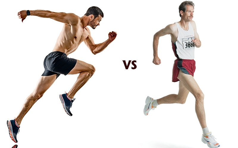 Long distance running vs sprinting