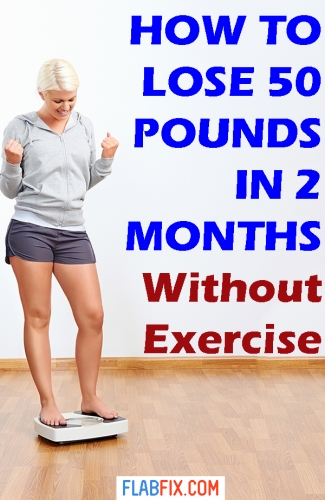 If you're overweight, use the tips in this article to lose up to 50 pounds in 2 months without exercise #lose #50pounds #flabfix