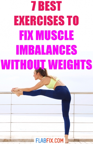 If you have leg muscle imbalances, this article will show you how to fix them without weights