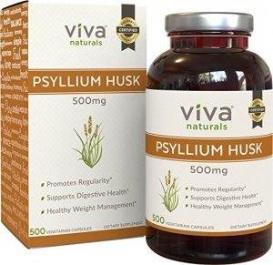 #2 Viva Naturals Organic Psyllium Husk Vegetarian - fiber supplements for weight loss