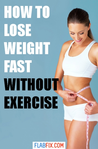 In this article, you will discover tricks you can use to lose weight fast without exercise #Lose #weight #without #exercise #flabfix