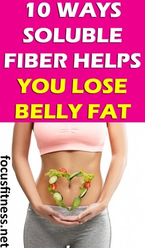 If you want to lose frustrating belly fat, this article will show you how soluble fiber helps you lose belly fat. #solublefiber #bellyfat #focusfitness