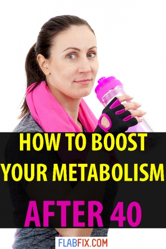 Discover the secrets to boosting your metabolism after 40 #boost #metabolism #after40 #flabfix