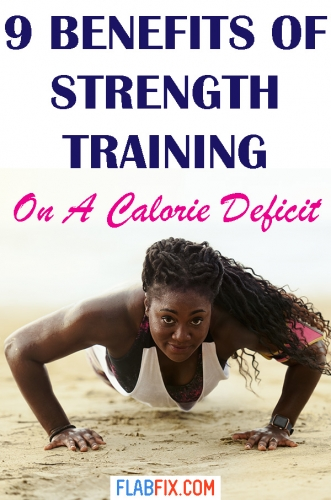 In this article, you will discover the benefits of strength training on a calorie deficit #strength #training #calorie #deficit #flabfix