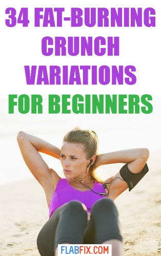 Use these fat burning crunch variations if you want to build your ab muscles fast #crunch #variations #beginners #flabfix