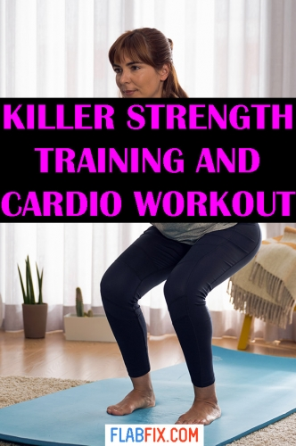Use this killer strength training and cardio workout to transform your body #strength #training #cardio #flabfix