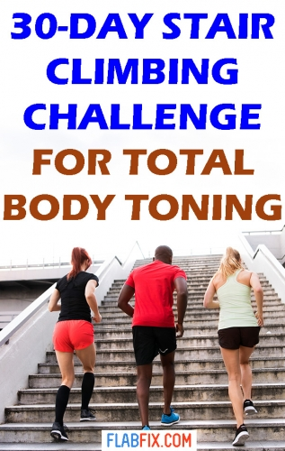 30-Day stair climbing challenge for total body toning #total #Body #stair #climbing #challenge #flabfix
