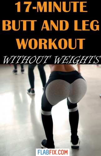 Use this home workout to build your leg and butt muscles without weights #butt #Leg #workout #flabfix