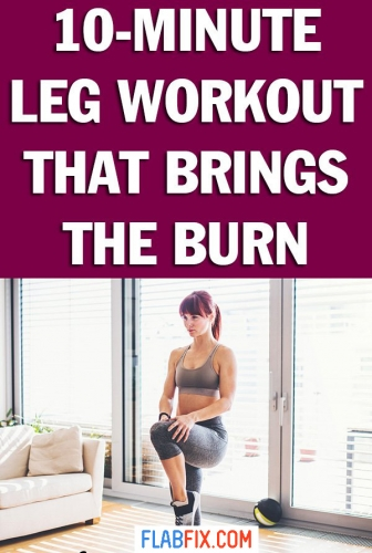 Use this leg home workout to build your leg muscles and burn calories #leg #workout #home #flabfix