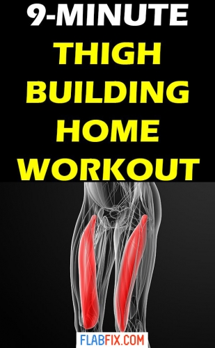 Use this thigh building home workout to tone your leg muscles #thigh #toning #workout #flabfix