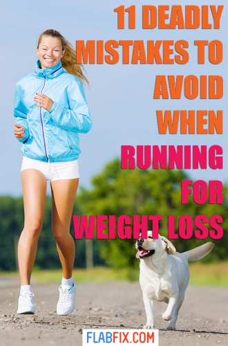 If you want to lose weight through running, avoid these deadly mistakes when running for weight loss #running #weightloss #flabfix