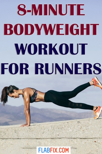 If you're a runner, use this bodyweight workout to improve your performance #runner #bodyweight #flabfix