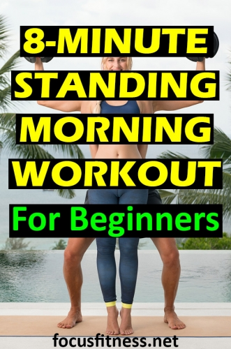 If you want to lose stubborn fat and build lean muscle without lifting heavy weights, do this standing morning workout for fat loss. #standing #morning #workout #focusfitness
