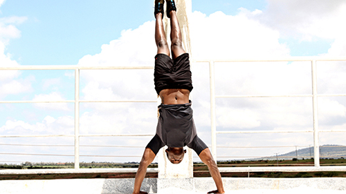 Handstand Against the Wall gif