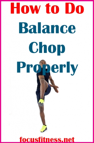 Discover how to perform the balance chop exercise to build your ab and shoulder muscles while improving your balance and stability #balance #chop #exercise