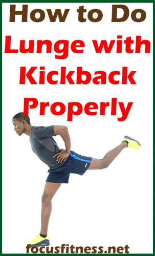 In this article, you will discover how to do the lunge with kick back exercises properly to build your leg and butt muscles #lunge #kickback #exercise #focusfitness