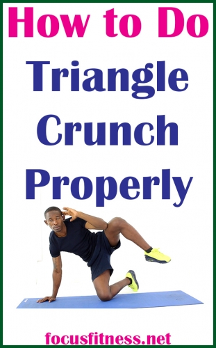 How to Do Triangle Crunch