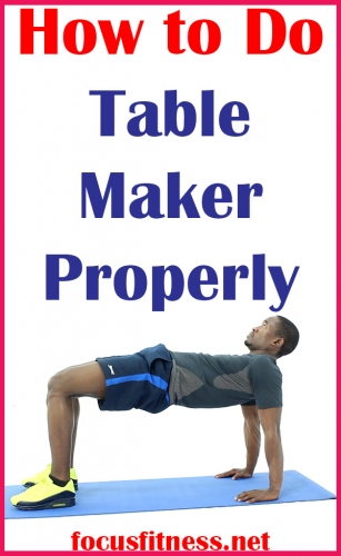 In this article, you will discover how to perform the table make exercise, which mainly targets your back and glute muscles #table #maker #focusfitness