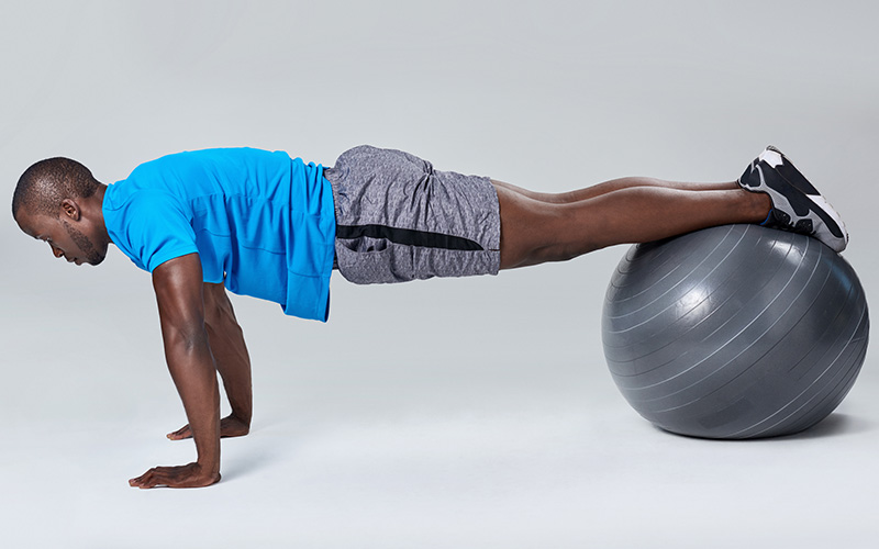 Swiss ball ab workout for beginners