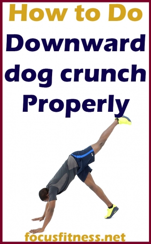 In this article, you will discover how to perform the downward dog crunch exercise properly to take your fitness to the next level #downward #dog #crunch #focusfitness