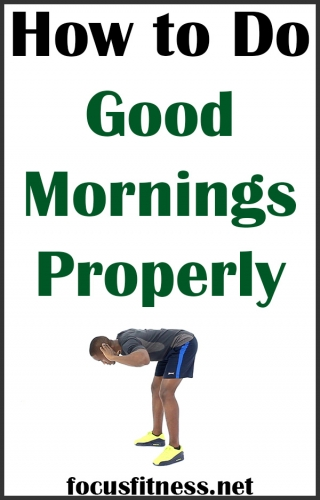 If you want to strengthen your back muscles without weights, this exercise will show you how to perform good mornings exercise properly #good #mornings #exercise #focusfitness