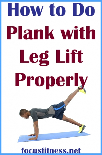 How to Do Plank with Leg Lift