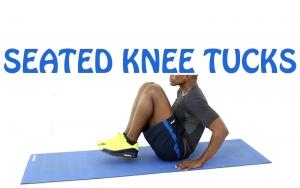 How to Do Seated knee tucks