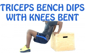 How to Do Triceps Bench Dips with Knees Bent