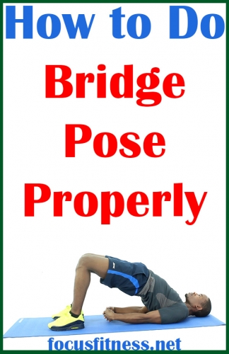 In this article, you will discover how to perform the bridge pose properly to build your glutes and lower back muscles without weights #bridge #pose #exercise #focusfitness