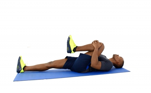 How to Do Knee to Chest Hamstring Stretch