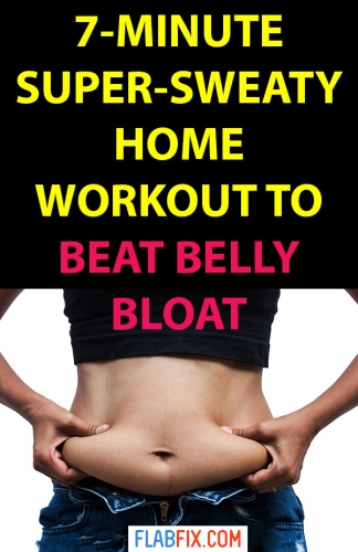 Use this simple 7 minute home workout to beat belly bloat instantly #workout #belly #bloat #flabfix